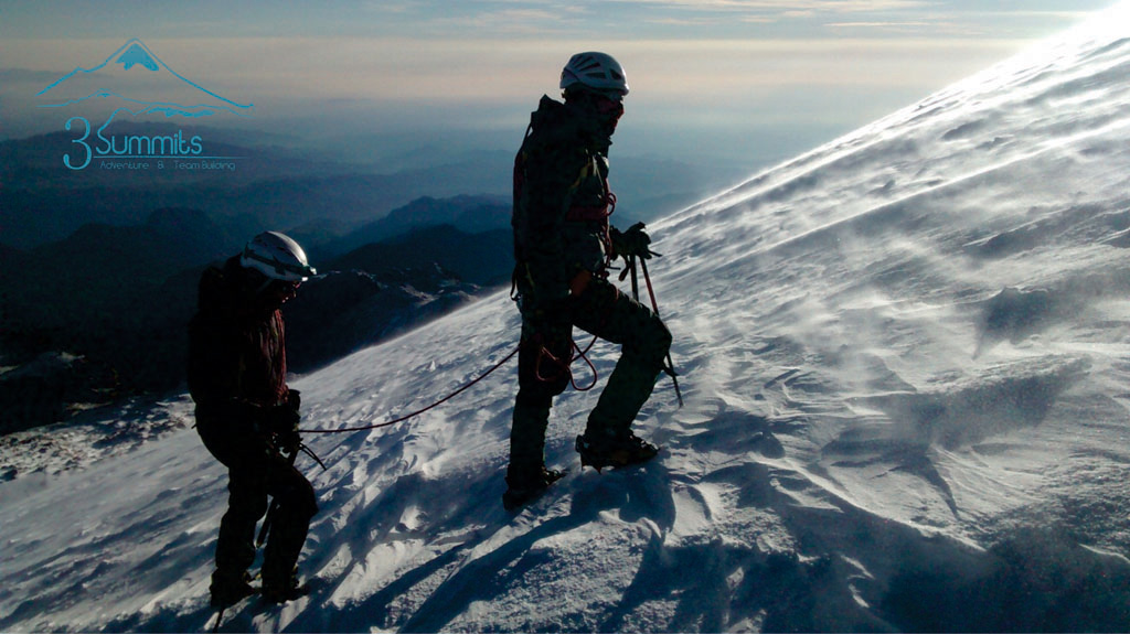 Cordada en el Pico de Orizaba 2