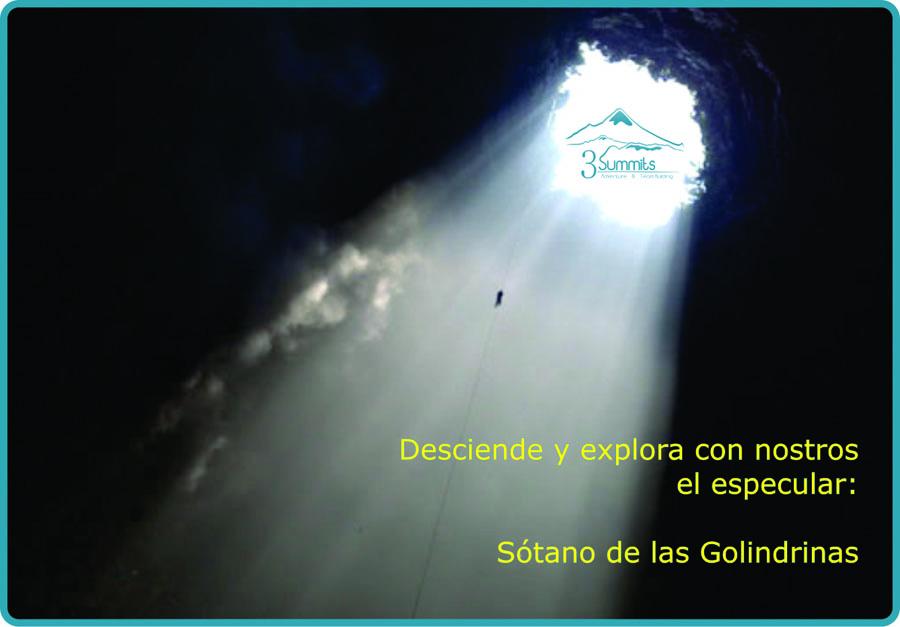 Guías para hacer el descenso al Sótano de las Golondrinas con nosotros - 3Summits