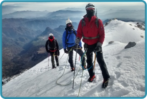 Cerca de la cumbre del Pico de Orizaba