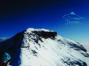 Llegando a la cumbre de Iztaccihuatl, izta o Mujer dormida