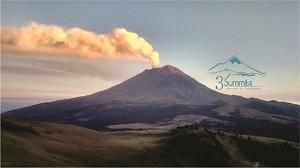 El Popo humendo visto desde Altzomoni - 3Summits