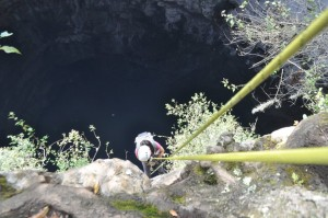 Inicio del descenso del Sótano de las Golondrinas 2 - 3Summits