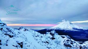 Popo nevado desde el Izta - 3Summits
