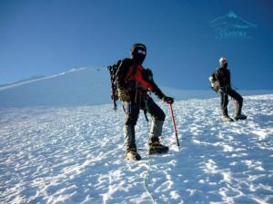 Camino a la cumbre del Pico de Orizaba