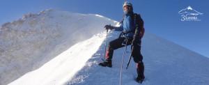 Llegando a la cumbre del Pico de Orizaba (Citlalteptl)