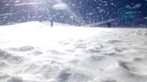 Ventisca el glaciar Pico de Orizaba