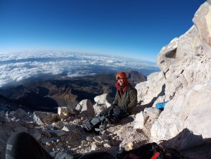 Taking a rest on the south route to Orizaba