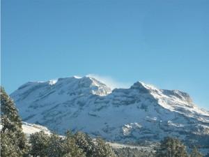 Iztaccihuatl nevado desde la Joya